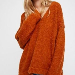 New Free People Lofty V-neck sweater